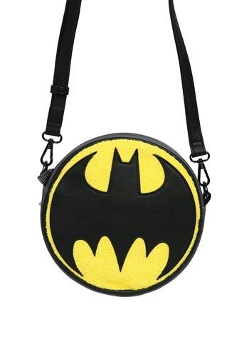 Loungefly Batman Logo Chenille Crossbody Bag