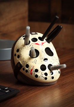 Ceramic Friday the 13th Pencil Holder