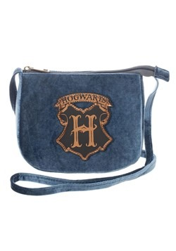 Harry Potter Hogwarts Crest Velvet Crossbody Bag