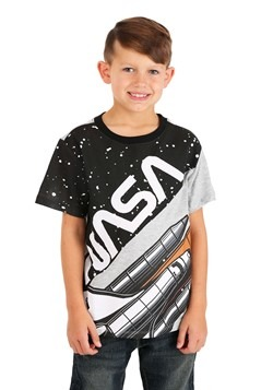 NASA Cut & Sew Patterned Boys T-Shirt