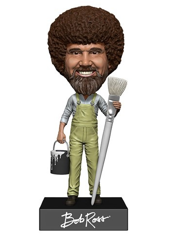 Bob Ross Head Knocker Bobblehead Figure