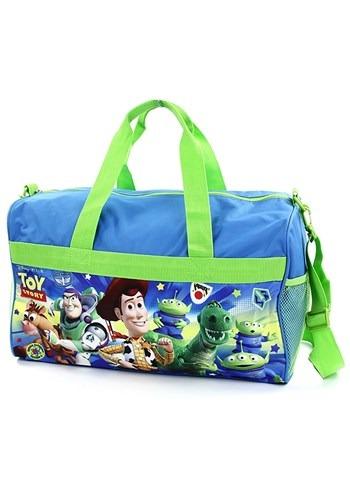 """Boys Toy Story 18"""" Blue/Green Duffel Bag"""