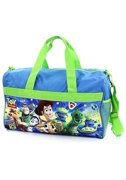"Boys Toy Story 18"" Blue/Green Duffel Bag"