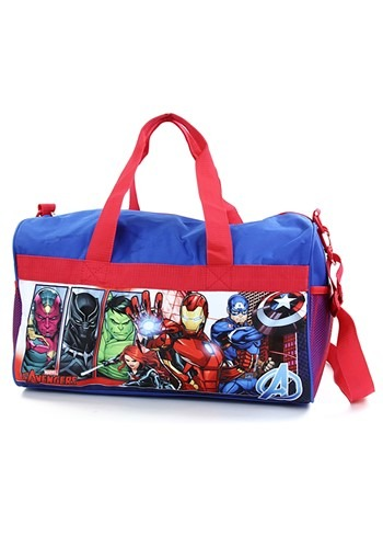 "Avengers Boys 18"" Blue/Red Duffel Bag"