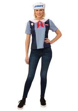 Stranger Things Robin's Scoops Ahoy Costume for Adults