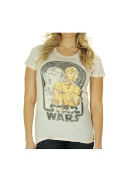 Womens Star Wars R2D2 and C3PO T-Shirt