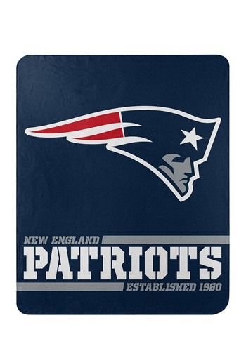 New England Patriots Split Wide Fleece Throw