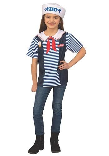 Kids Stranger Things Robin's Scoops Ahoy Uniform Costume