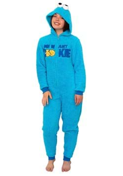 Women's Sesame Street Cookie Monster Union Suit Costume Upd