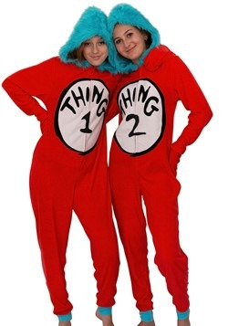 Women's Dr. Seuss Thing One and Thing Two Union Suit Costume