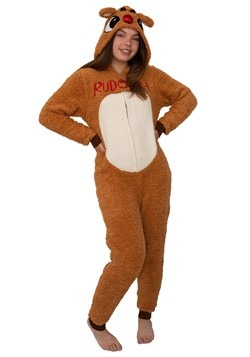 Women's Rudolph the Reindeer Rudolph Union Suit Costume