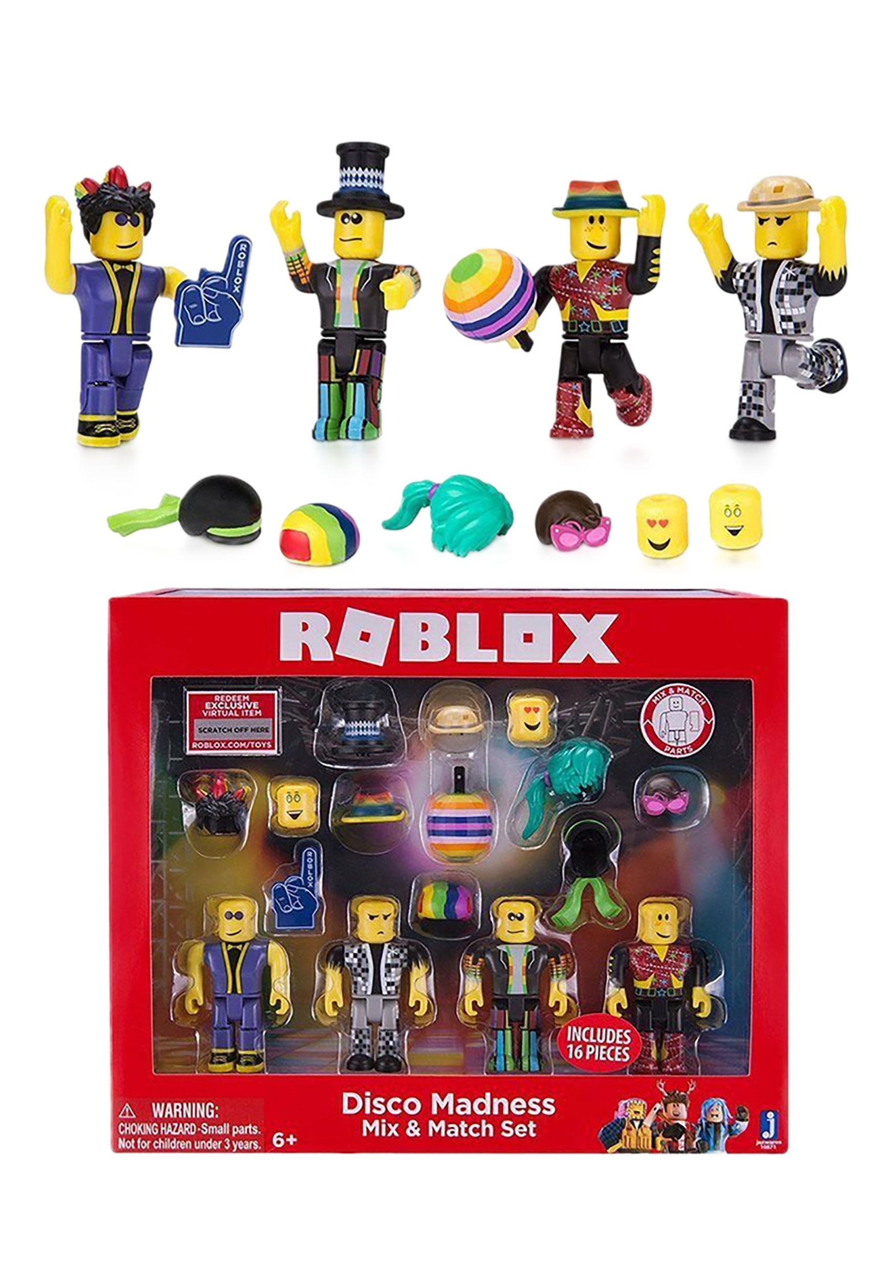 Roblox Disco Madness Mix Match Set - roblox plush set of 4 make your own