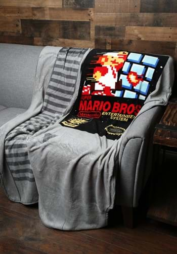 Super Mario Cartridge Shaped Fleece Throw