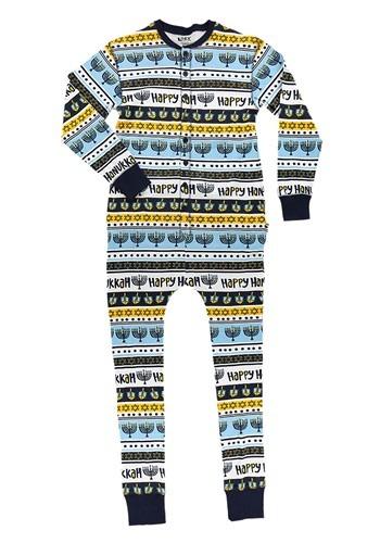 Kids Happy Hanukkah Flapjack Pajamas
