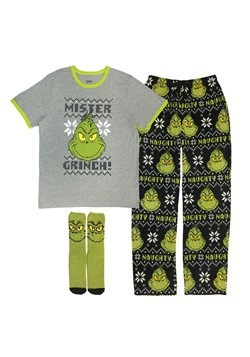 Mens How the Grinch Stole Christmas Mister Grinch Lounge Set