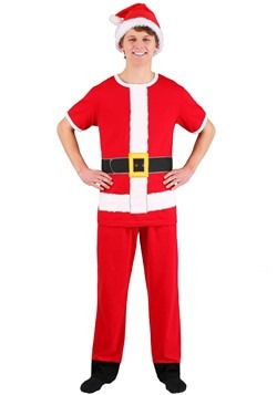 Santa Claus Cosplay Costume Tee, Lounge Pants and Hat Set
