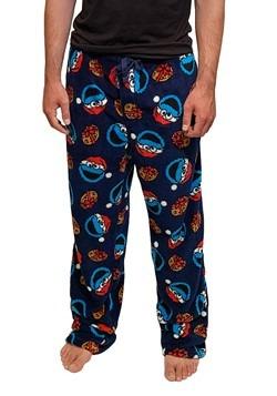 Mens Santa Cookie Monster Plush Lounge Pants