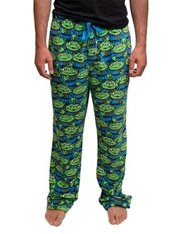 Mens Toy Story Little Green Alien Pile Plush Lounge Pants