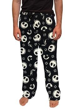 Mens Jack Skellington, Zero and Oogie Print Plush Pants