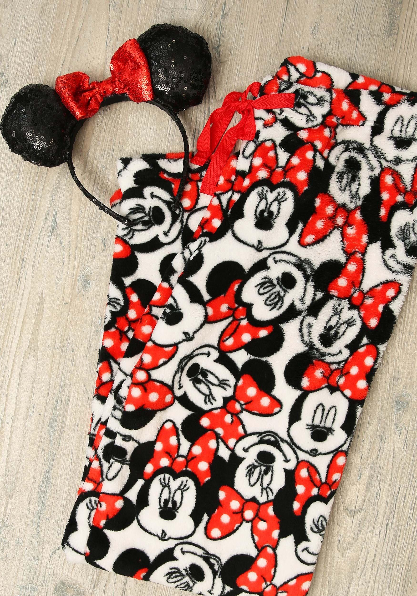 NEW Mickey Mouse Womens Halloween Plush Lounge Sleep Pajama Pants~Soft Fleece