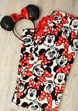 Juniors Minnie Mouse White/Red Plush Lounge Pants
