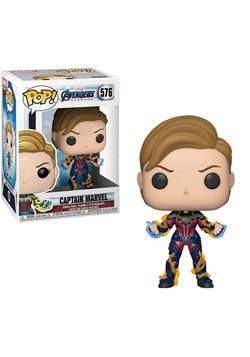 Pop Marvel Endgame Captain Marvel w New Hair upd