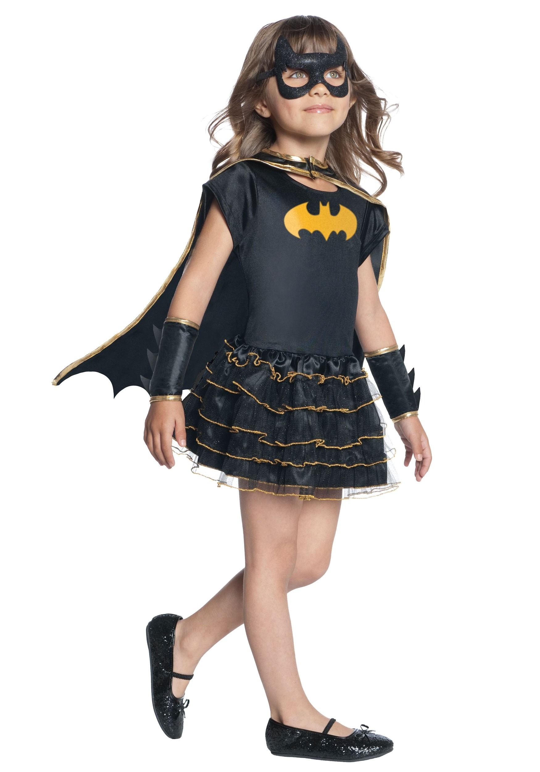 Toddler Girls Batgirl Dressup Caped Costume Dress