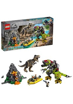 LEGO Jurassic World T-Rex Vs Dino-Mech Battle