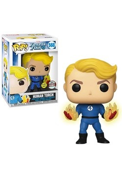 Pop! Marvel: Fantastic Four- Human Torch (suited) Glow upd