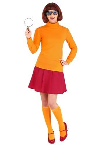Classic Scooby Doo Velma Adult Plus Size Costume