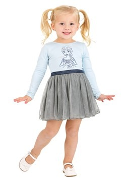 Girls Frozen Elsa Ballerina Dress