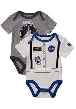 Infant NASA 2 Pack Bodysuit Costume Onesie
