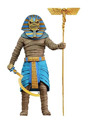 """ron Maiden - 8"""" Clothed Action Figure - Pharaoh Eddie Action"""