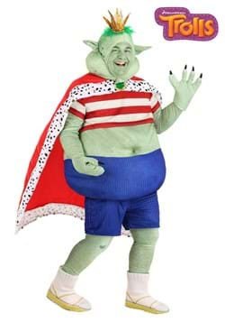 Mens Plus Size Prince Gristle Trolls Costume