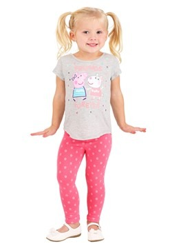 Girls Peppa Pig Gray Shirt and Legging Set