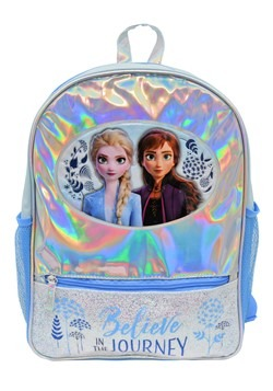 "Frozen 2 Foil 16"" Backpack w/ Glitter Front Pocket"