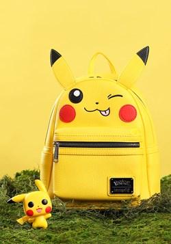 Loungefly Pikachu Faux Leather Mini Backpack alt4