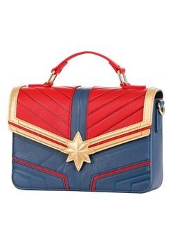 Loungefly Captain Marvel Faux Leather Crossbody Ba