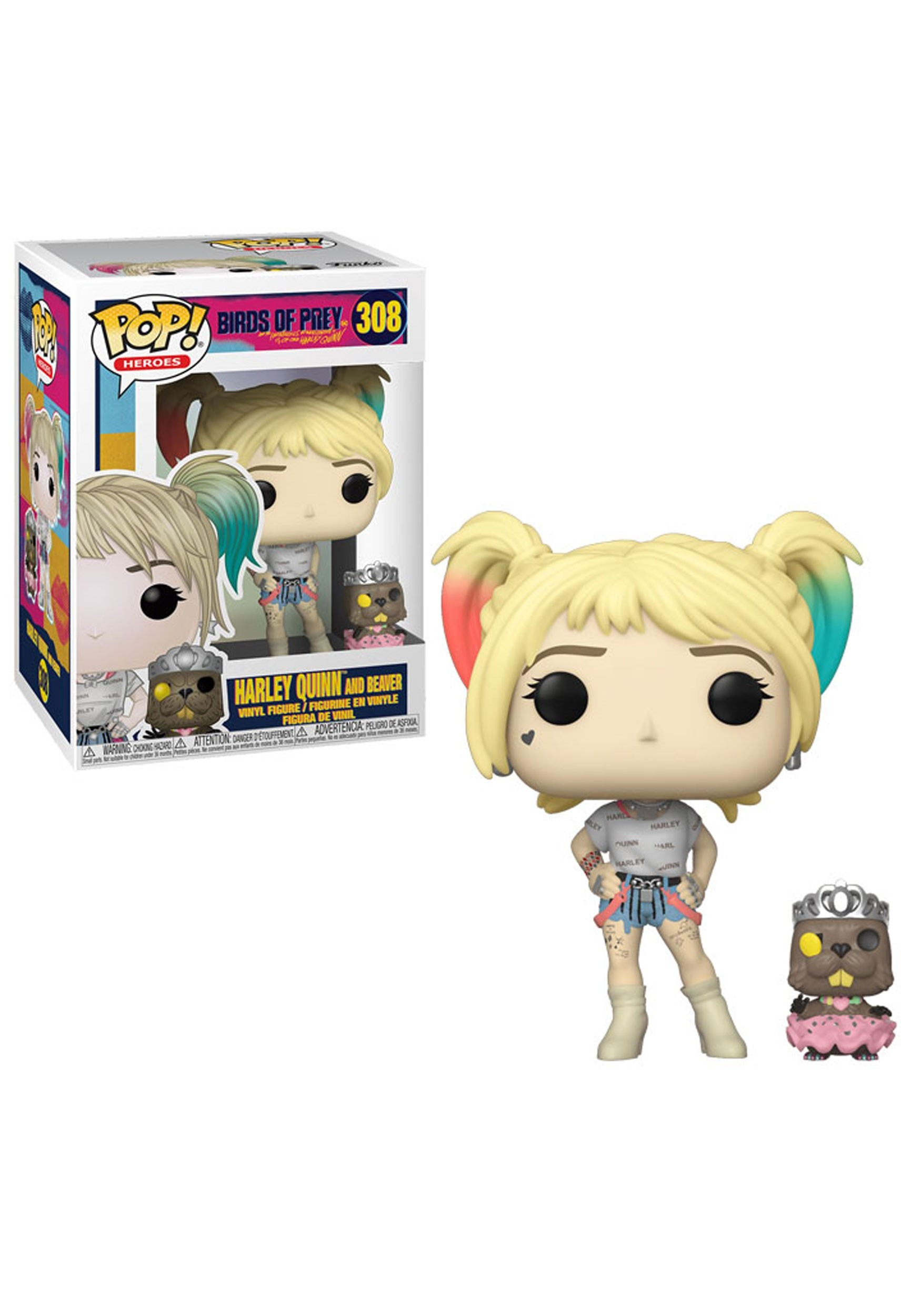 Birds Of Prey Harley Quinn W Beaver Pop Heroes