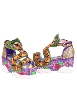 Irregular Choice Jellie Snake Gold/Pink Platform