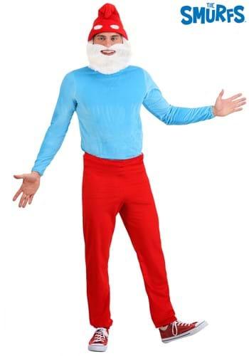 The Smurfs Adult Plus Size Papa Smurf Costume