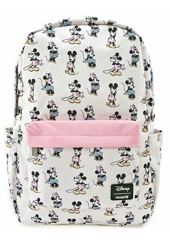 Loungefly Pastel Minnie Mickey Nylon Backpack