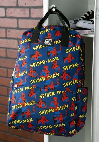 Loungefly Spider-Man Square Nylon Backpack