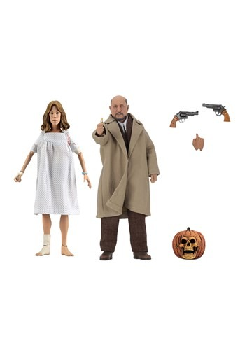"""Halloween 2 Doctor Loomis & Laurie Strode 8"""" Scale Clothed F"""