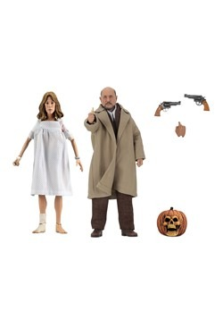 "Halloween 2 Doctor Loomis & Laurie Strode 8"" Scale Clothed F"