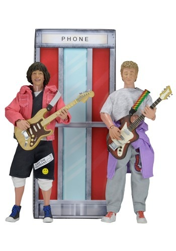 """Bill and Ted's Excellent Adventure 8"""" Clothed Figure 2-Pack"""