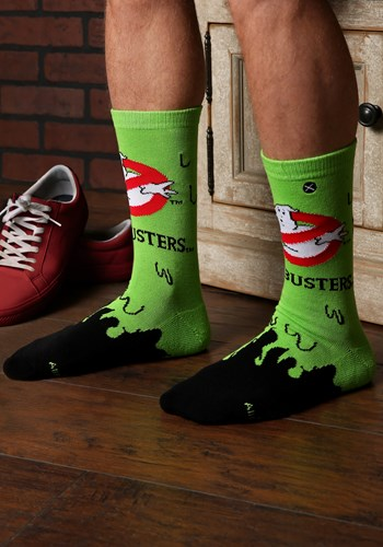 Ghostbusters Slime Knit Adult Crew Socks Updated