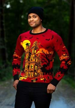Haunted House Ugly Halloween Sweater for Adults Alt 3