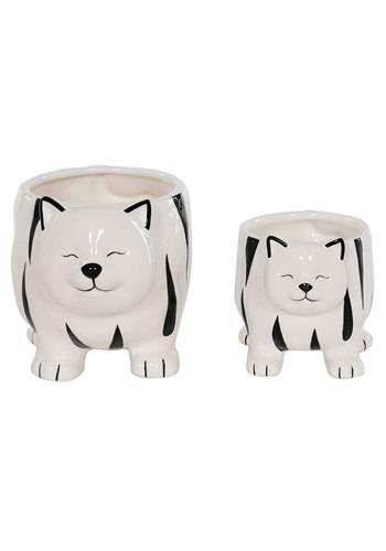 Ceramic Cat Planter Set of 2