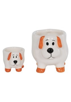 Ceramic Dog Planter Set of 2